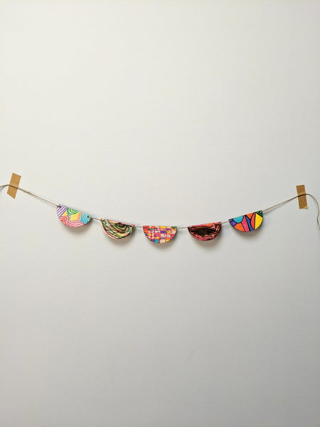 Wooden bunting kit - The Stationery Cupboard