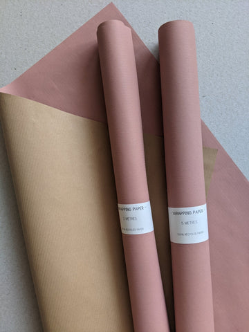 Wrapping paper roll - pink - The Stationery Cupboard