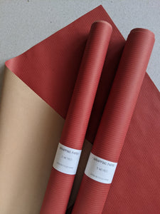 Wrapping paper roll - red - The Stationery Cupboard