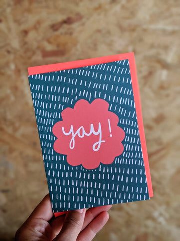 'Yay' card - The Stationery Cupboard