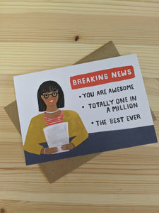 You are awesome card - The Stationery Cupboard