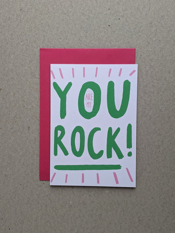 You Are My Rock, Valentine's Greetings Card - The Stationery Cupboard