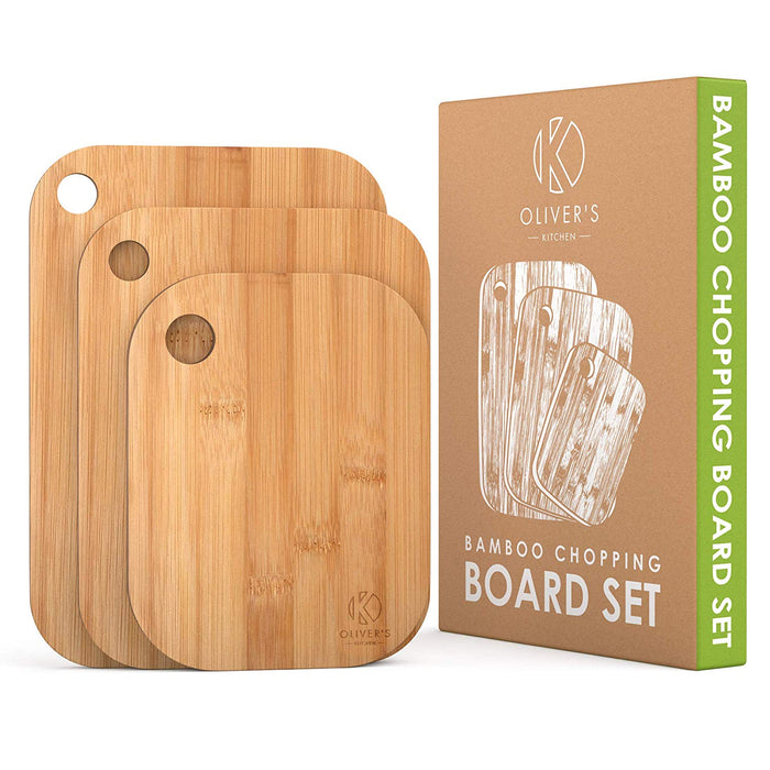3 x Set of Wooden Bamboo Chopping Boards