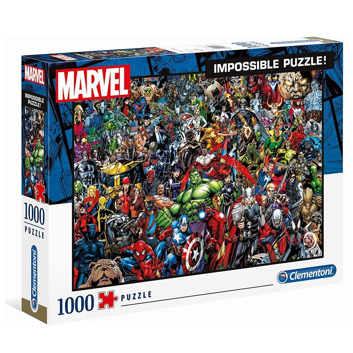 Clementoni Marvel 1000 Pieces Impossible Jigsaw Puzzle - Mystery Planet
