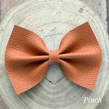 Load image into Gallery viewer, Leather Bow- TAWNY