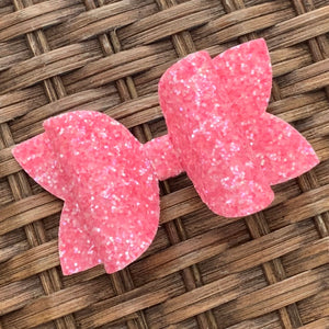 Glitter Bow- STRAWBERRY SHERBET