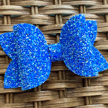 Load image into Gallery viewer, Glitter Bow- BLUE-TIFUL
