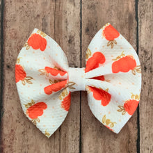Load image into Gallery viewer, Fabric Bow- POLKA DOT PUMPKINS