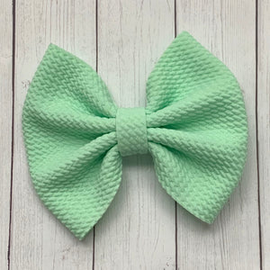Fabric Bow- PASTEL GREEN