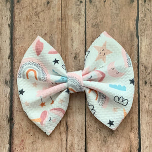 Fabric Bow- UNICORN DREAMS