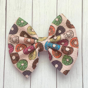 Fabric Bow- DONUTS