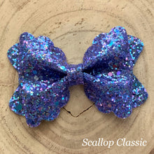 Load image into Gallery viewer, Glitter Bow- BLUE SHINE