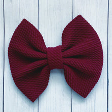 Load image into Gallery viewer, Fabric Bow- BURGUNDY