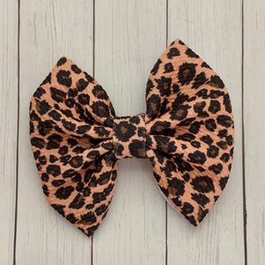 Fabric Bow- LEOPARD