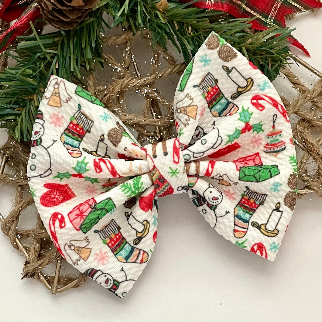 Fabric Bow- CHRISTMAS CHARACTERS
