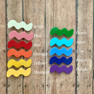 Acrylic Clips- SQUIGGLE