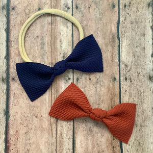 Fabric Bow- NAVY