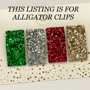Alligator Clips- CLASSIC CHRISTMAS
