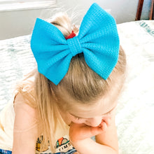 Load image into Gallery viewer, Fabric Bow- CARIBBEAN BLUE