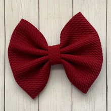 Load image into Gallery viewer, Fabric Bow- MAROON