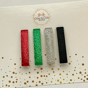 Alligator Clips- HOLIDAY METALLICS