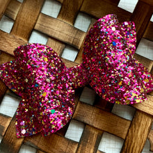 Load image into Gallery viewer, Glitter Bow- MAGENTA MUSE