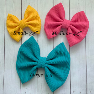 Fabric Bow- KELLY GREEN