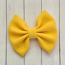 Load image into Gallery viewer, Fabric Bow- YELLOW
