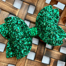 Load image into Gallery viewer, Glitter Bow- GREEN PREMIUM