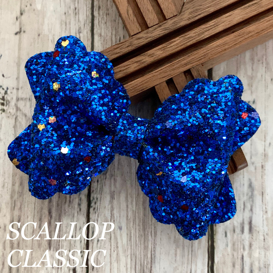 Glitter Bow- ROYAL FUNFETTI