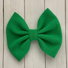 Load image into Gallery viewer, Fabric Bow- KELLY GREEN