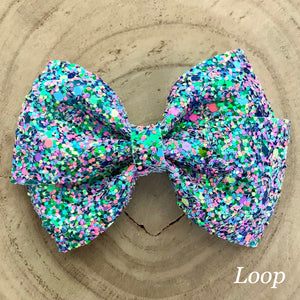 Glitter Bow- MONSTER MASH