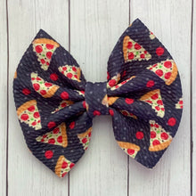 Load image into Gallery viewer, Fabric Bow- PIZZA