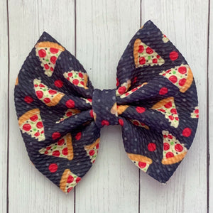 Fabric Bow- PIZZA
