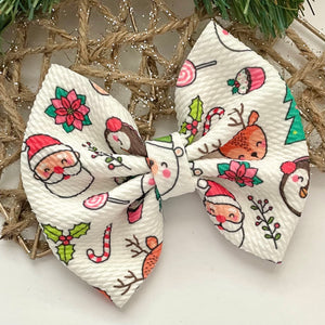Fabric Bow- HOLIDAY PALS