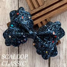 Load image into Gallery viewer, Glitter Bow- NAVY FUNFETTI