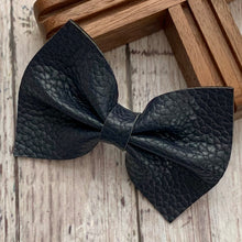 Load image into Gallery viewer, Leather Bow- MIDNIGHT