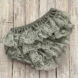 Lace Bloomers- GRAY