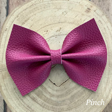 Load image into Gallery viewer, Leather Bow- BERRY