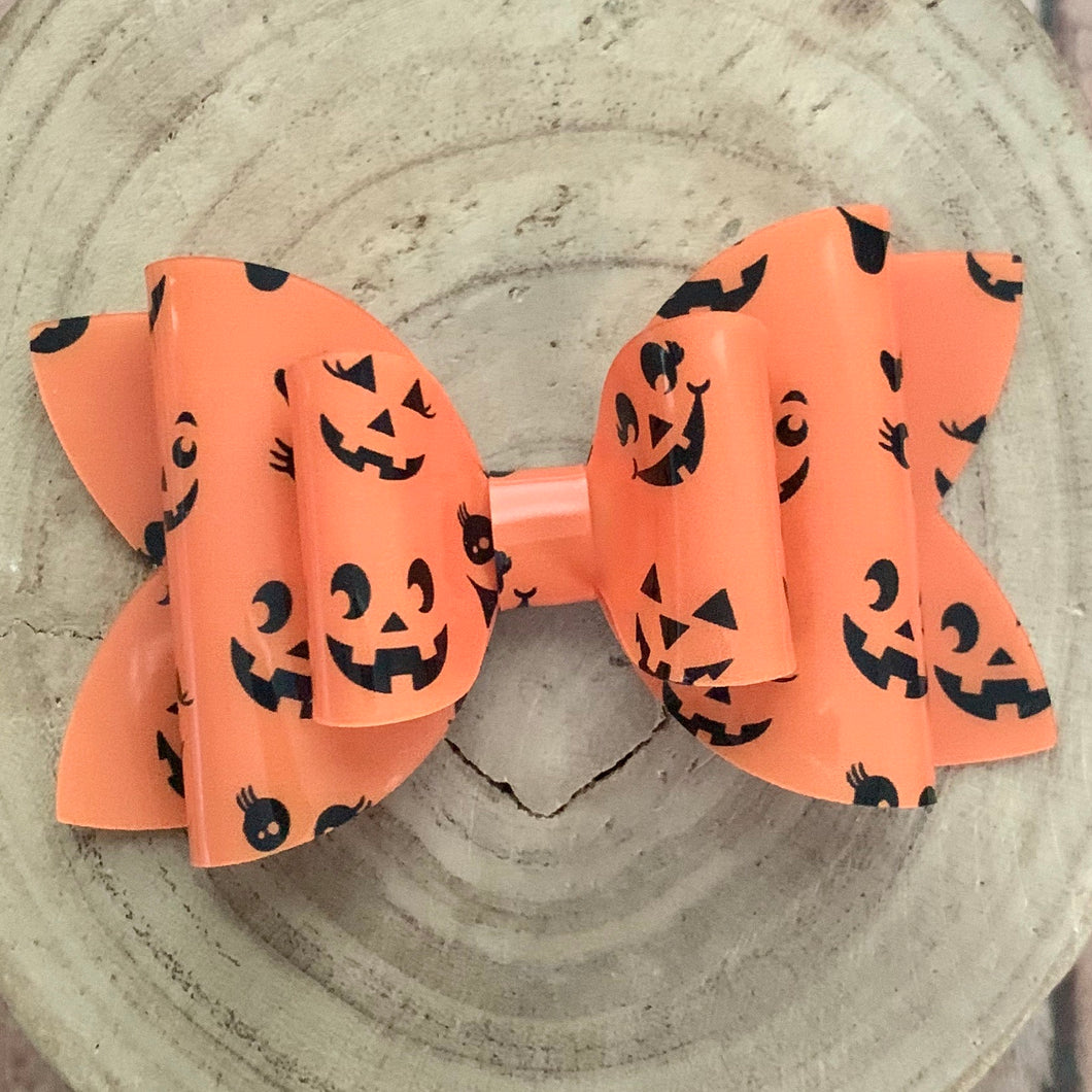 Jelly Bow- JACK O' LANTERN FACES