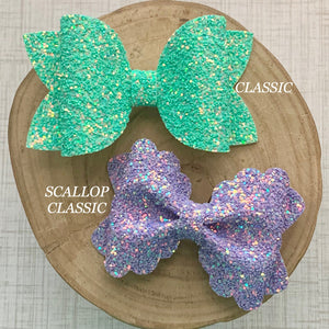 Glitter Bow- FRENCH ROSE