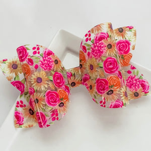 Jelly Bow- SUNFLOWER FLORAL