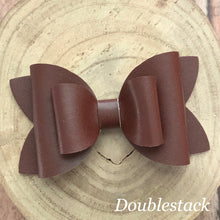 Load image into Gallery viewer, Leather Bow- SMOOTH BROWN