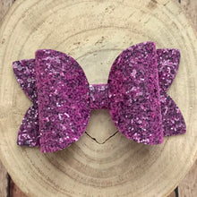 Load image into Gallery viewer, Glitter Bow- VIOLET GLASS