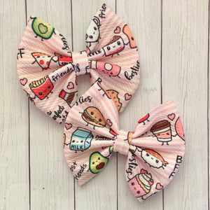 Fabric Bow- BESTIES