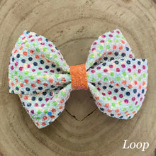 Load image into Gallery viewer, Glitter Bow- HALLOWEEN DOTS