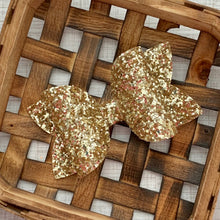 Load image into Gallery viewer, Glitter Bow- GOLD PREMIUM