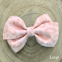 Load image into Gallery viewer, Suede Bow- PINK LEOPARD