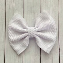 Load image into Gallery viewer, Fabric Bow- WHITE