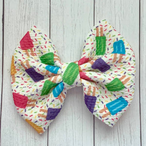 Fabric Bow- POPSICLES